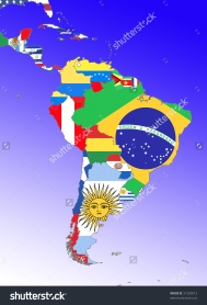 stock-photo-symbolic-image-latin-america-south-america-middle-america-outline-and-flags-31320013